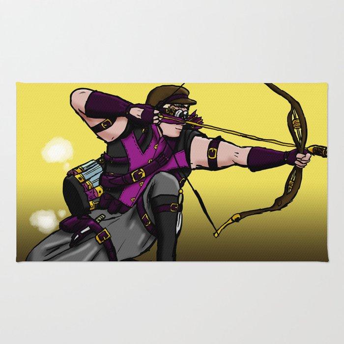 Steampunk archer Rug