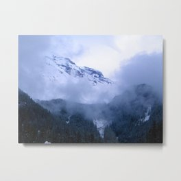 Mist Ridge Metal Print