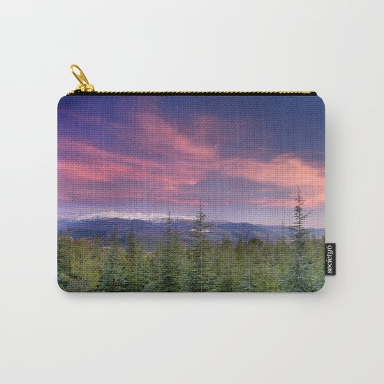 Spring sunset at the mountains Carry-All Pouch