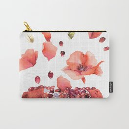 My heart is full of flowers / pomegranate and poppies Carry-All Pouch