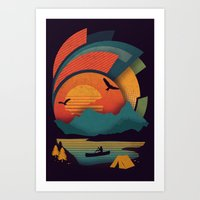 explore Art Prints featuring Explore by The Child