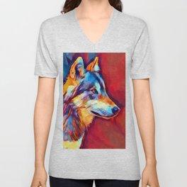 Wolf Portrait 2 Unisex V-Neck
