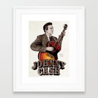 johnny cash Framed Art Prints featuring Johnny Cash by Daniel Cash