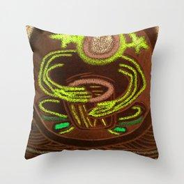 Shamanic Drummer - Healer Throw Pillow