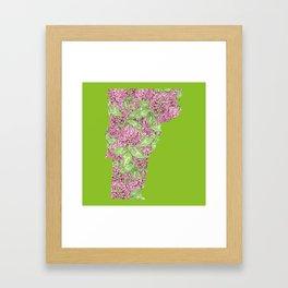 Vermont in Flowers Framed Art Print