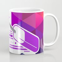 popsicle Mugs featuring Grape Popsicle by Spires