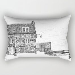 Crail: Old Harbour house.... Fife, in Scotland Rectangular Pillow