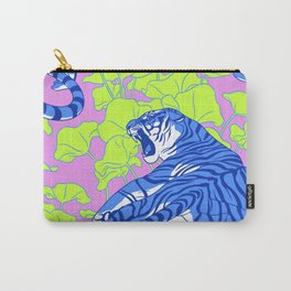 Neon Tigers and Water Lillies. Carry-All Pouch