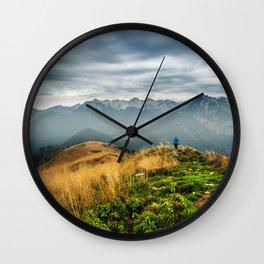 Exploring new locations Wall Clock