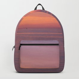 Colors of the sea at the blue hour Backpack