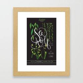 Sea Wolf Poster - The Bartlett Framed Art Print