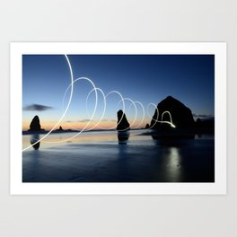 Ocean light rays Art Print