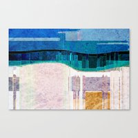 cityscape Canvas Prints featuring CITYSCAPE by Catspaws