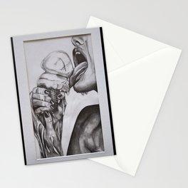 Erotic lick - girl licking ice cream erotically Stationery Cards