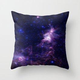 gAlAXY Purple Blue Throw Pillow