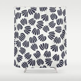 Abstract Floral V Shower Curtain