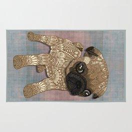 Pug Puppy Rug