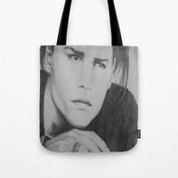 johnny depp Tote Bags featuring Johnny Depp by Brooke Shane