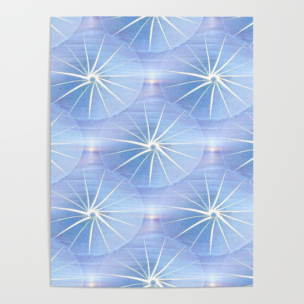 Paper Parasols (Blue) Poster by artisimo (POS7741427) photo