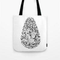 monster inc Tote Bags featuring Egg inc by Infra_milk