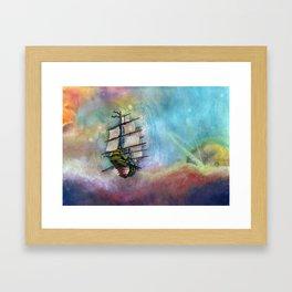 Mike's Tall Ship Framed Art Print