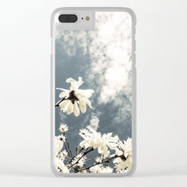 Flowers & Clouds Clear iPhone Case
