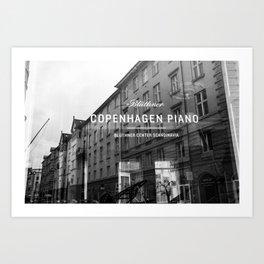 Copenhagen Piano Art Print