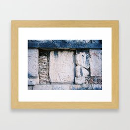 Wall Relief No. 6 in Chichen Itza, Mexico (2004) Framed Art Print