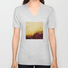 LOVELY FLOWERS ARE KISSING A YELLOW FIELD v2 Unisex V-Neck
