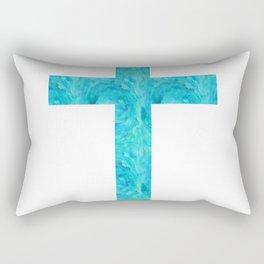 Watercolor Cross Rectangular Pillow