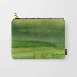 Spring Greens Abstract Watercolor Horizontal Pattern Carry-All Pouch