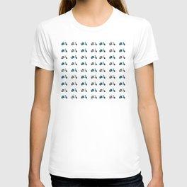 Blue and White Lambretta Pattern T-shirt