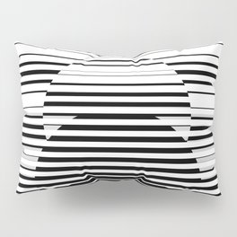 Hypnotic Optical Illusion 5 - Black & White Pillow Sham