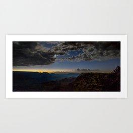 Grand Canyon National Park - Stars at South Rim Art Print