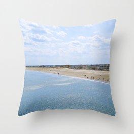 Seabrook Beach Day Throw Pillow