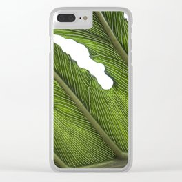 Big Leaves Photography | Tropical Plant | Green | Botanical Art Print | Nature Clear iPhone Case