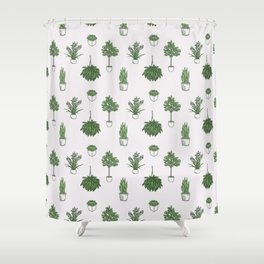 House Plants Pattern Shower Curtain