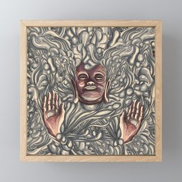 Buddha Bath Framed Mini Art Print