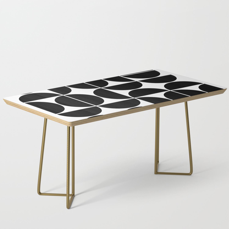 Mid Century Modern Geometric 04 Black Coffee Table By Theoldartstudio