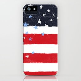 Patriotic Grunge Stars and Stripes iPhone Case