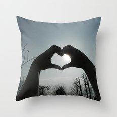 Hand Silhouette Throw Pillow