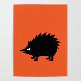 Angry Animals: hedgehog Poster