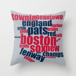 Boston Word Art Gifts Throw Pillow