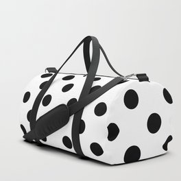 Polka Dots (Black & White Pattern) Duffle Bag