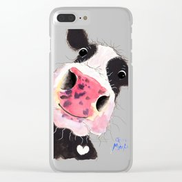 CoW PRiNT ANiMaL PRiNT ' ARTHuR ' BY SHiRLeY MacARTHuR Clear iPhone Case
