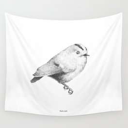 Goldcrest (Regulus regulus) - grey Wall Tapestry