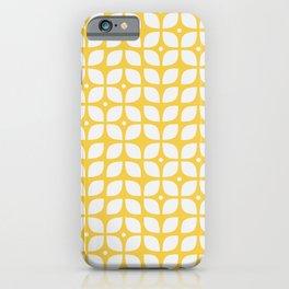 Mid century modern yellow geometric iPhone Case