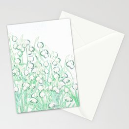 Snowdrop Spring Stationery Cards