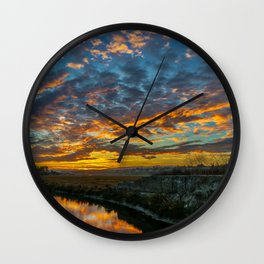 Back Bay Sunrise Colors v Wall Clock