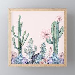 Desert Gemstone Oasis Light Pink Framed Mini Art Print